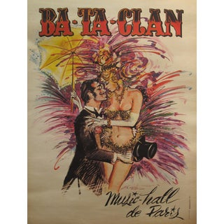 Mid-Century Modern French Music Hall Bataclan Poster