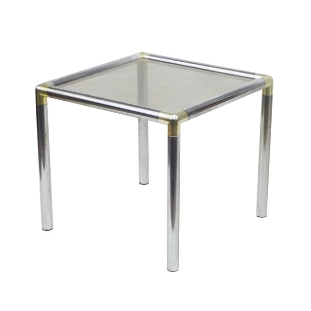 Image of Paul Evans-Style Chrome & Brass End Tables