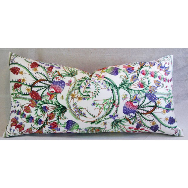 Designer Italian Gucci Floral Fanni Silk Pillow - Image 2 of 11