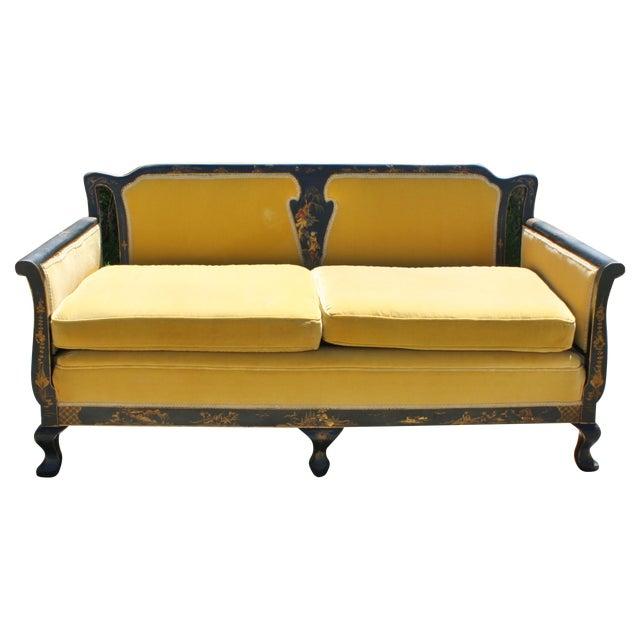 Image of 1940s Chinoiserie Sofa/Settee