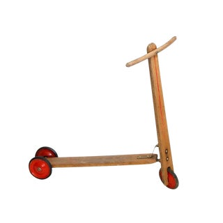 Vintage Wood Scooter