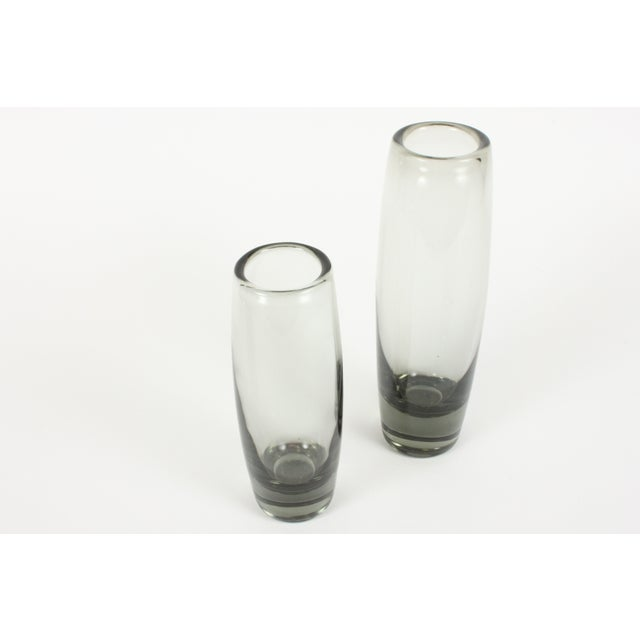 Holmegaard Smoke Glass Rondo Vases - A Pair - Image 3 of 4