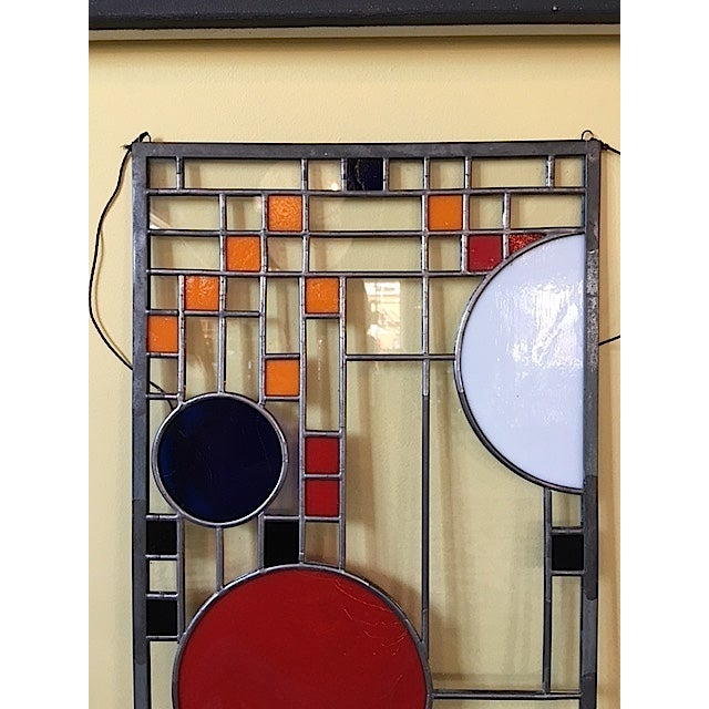 Frank Lloyd Wright Style Stained Glass Window Chairish