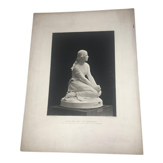1882 HMA Chapu Joan of Arc Sculpture Lithograph
