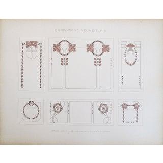 Vintage German Designer Sheets, C. 1900 -Set of 3