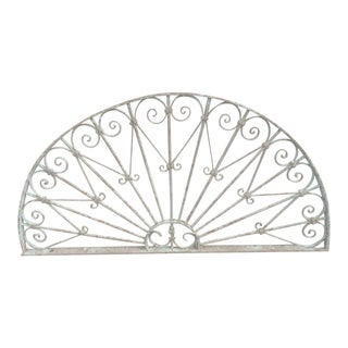 Antique Victorian Iron Garden Gate Window