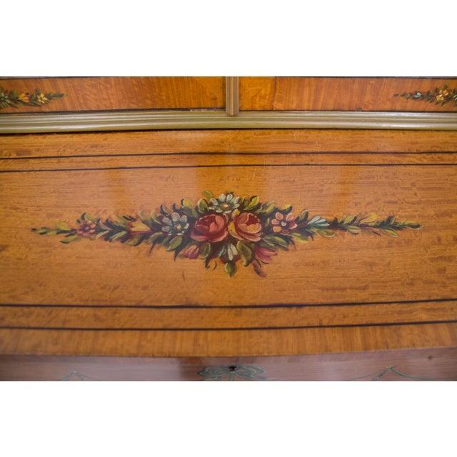English Adams Style Painted Satinwood Secretary - Image 7 of 10