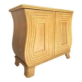 Art Deco Hollywood Regency Curved Wood Cabinet
