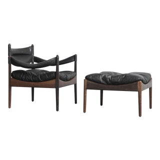 Kristian Solmer Vedel Modus Lounge Chair & Ottoman