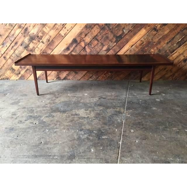 """Mid-Century Refinished """"Surfboard"""" Coffee Table - Image 3 of 5"""