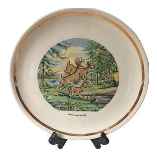 Vintage New Hampshire Souvenir Plate