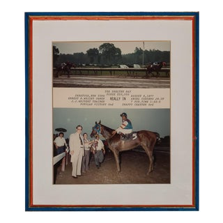 """Really In"" Winner's Enclosure at Saratoga Color Photo in Custom Frame"