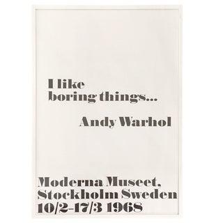 Andy Warhol Print - Boring Things