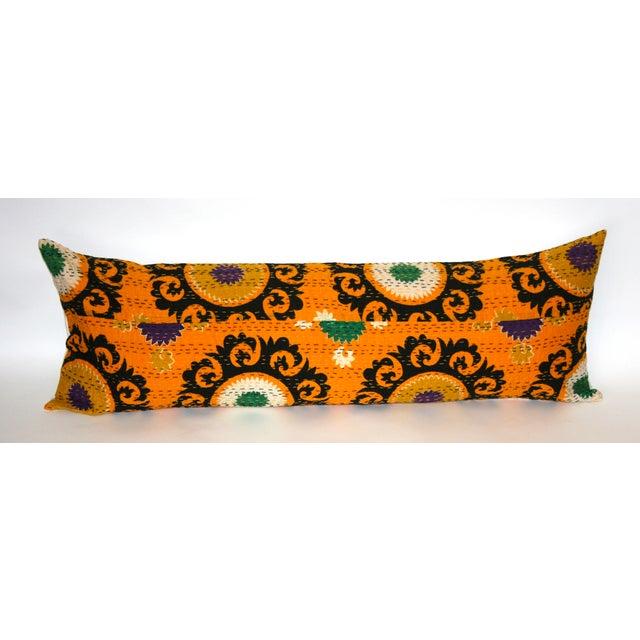 Orange Suzani Kantha Pillow - Image 2 of 3