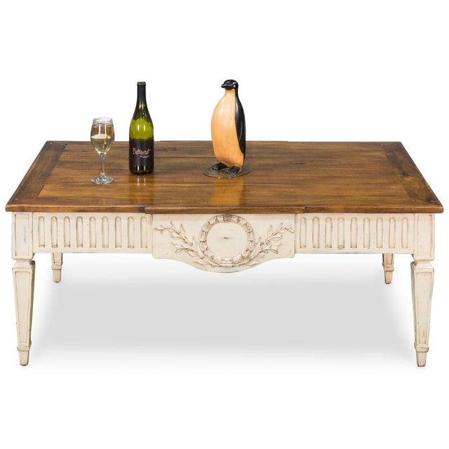 Sarreid Ltd Walnut & Oak Cocktail Table - Image 4 of 6