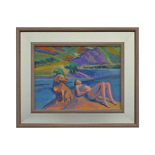 Ray Cuevas On Sespe Creek Painting - Image 1 of 3