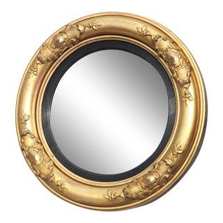 Period William IV Giltwood Convex Mirror