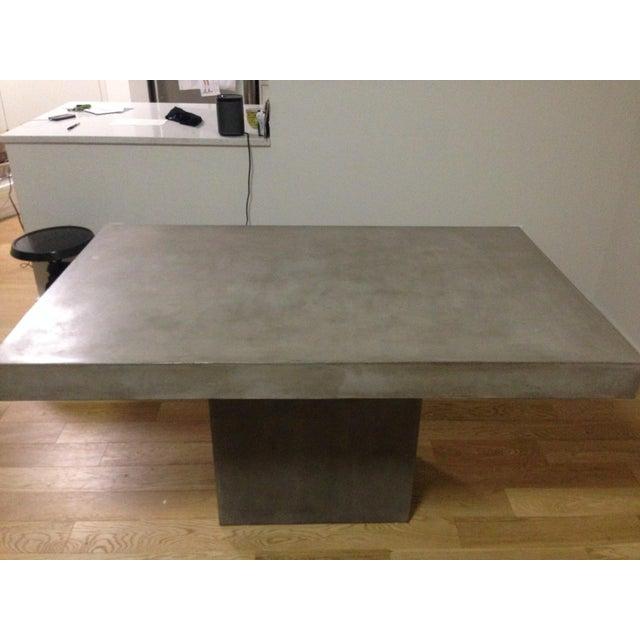 Cb2 Fuze Concrete Dining Table Chairish