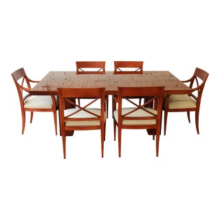 Baker Furniture Satinwood Dining Set