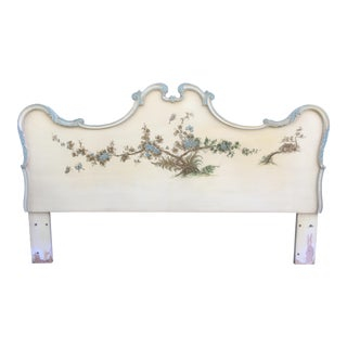 Asian Style Hand Painted King Headboard