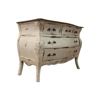 Country French Painted Carved Bombay-Style Dresser