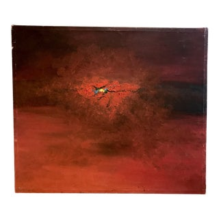 Chlóe Signed Red Abstract Painting