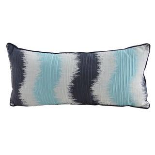 Sky Blue & Indigo Striped Lumbar Pillow