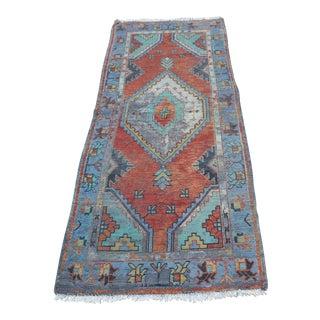 Vintage Bohemian Turkish Floor Rug - 2′7″ × 6′4″