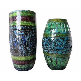 Mid-Century Modern Italian Pottery Vessels - Pair