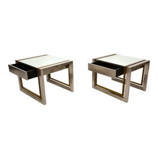 Arturo Pani Stainless Brass Side Tables