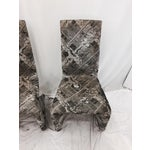 Image of Futuristic Gray Swan Chairs - Set of 3