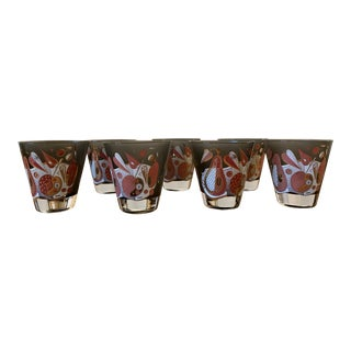 Vintage Georges Briard Double Shot Glasses - Set of 8