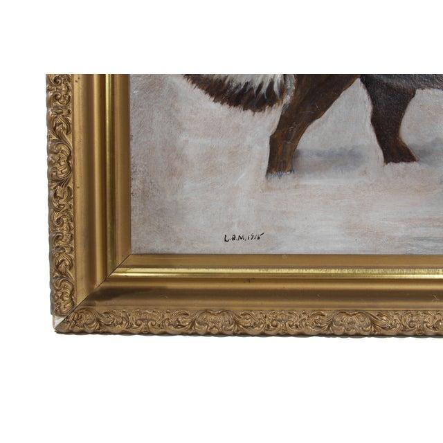 Image of Antique 1915 St. Bernard Painting
