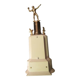 Art Deco American Football Trophy