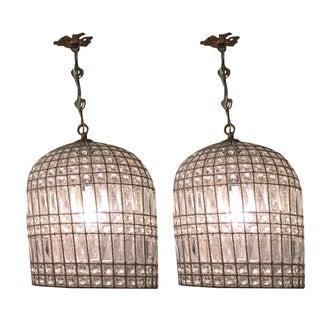 Vintage Crystal Chandeliers - A Pair