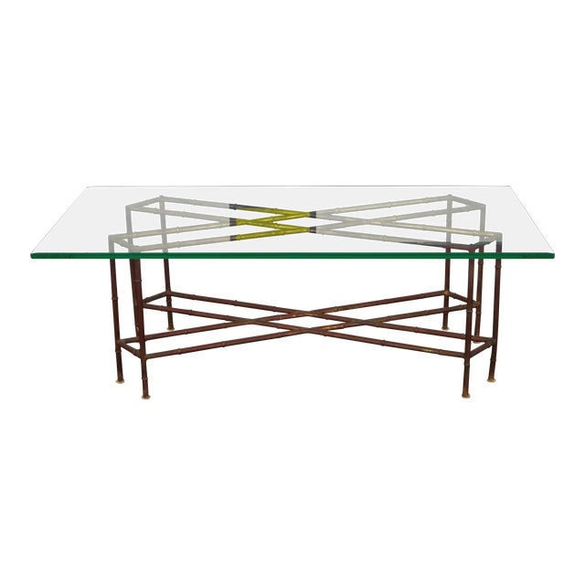 Vintage Faux Bamboo Coffee Table - Image 1 of 6