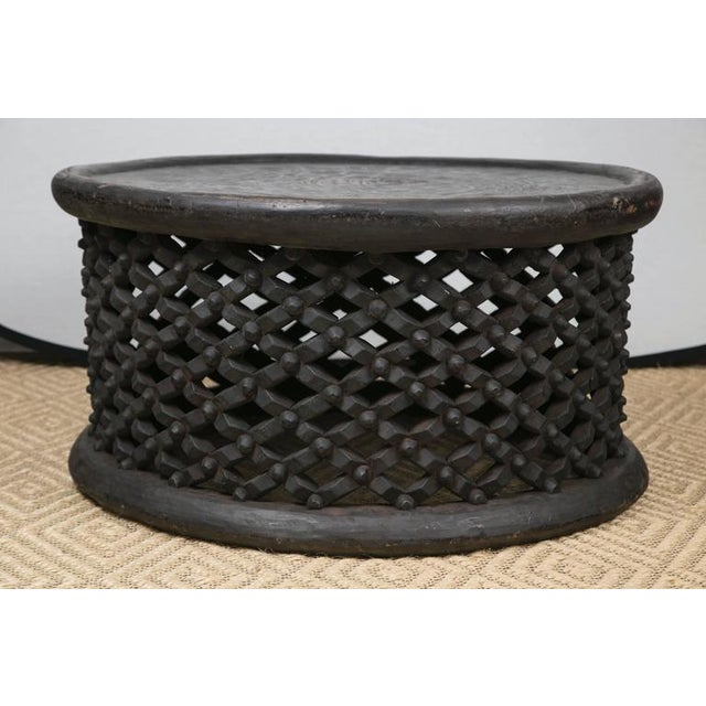 Hand-Carved African Cameroon Cocktail Table, Large - Image 3 of 6
