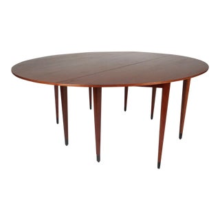 Newly Refinished Mid-Century Modern Drop-Leaf Dining Table by Dunbar