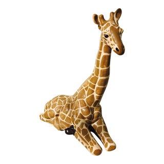 Regency Style Hand-Painted Ceramic Giraffe