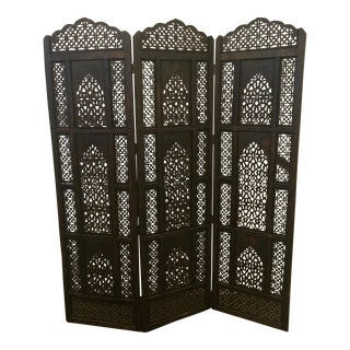 Boho Wood Screen/Room Divider
