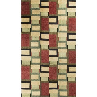 "Contemporary Hand-Knotted Wool Rug - 8'9"" x 12'"