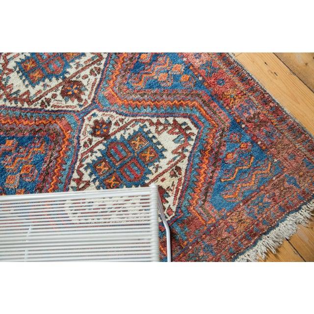 """Vintage Afshar Rug- 3'7"""" x 4'10"""" - Image 8 of 10"""