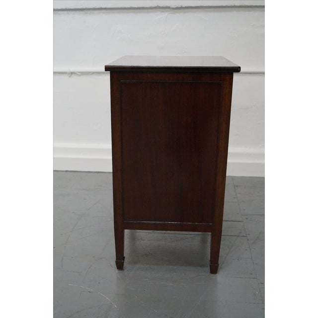 Antique Mahogany Regency Style 3 Drawer Nightstand - Image 3 of 10