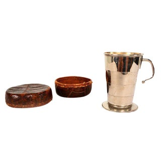 Collapsible Cup Crocodile Leather Case, Germany