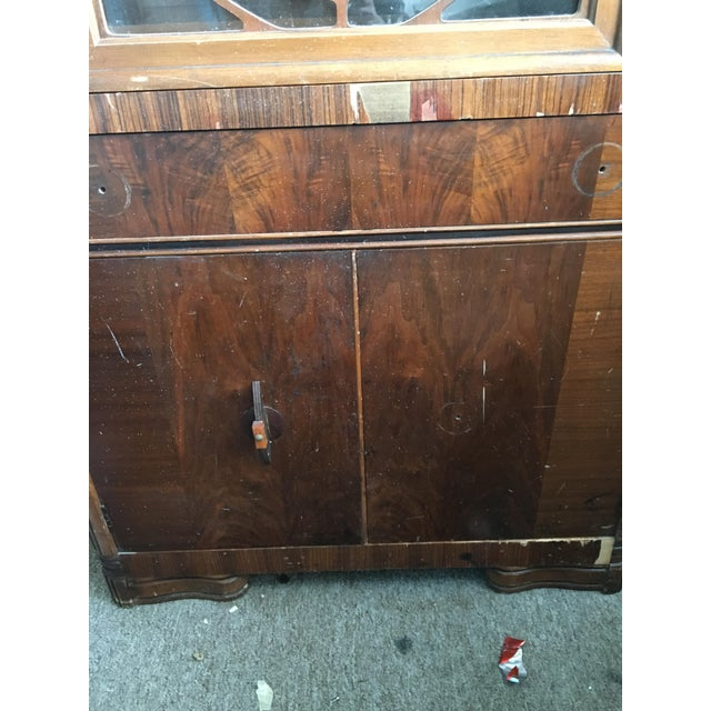 Vintage Waterfall Cabinet or Bar - Image 5 of 9
