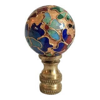 Vintage Cloisonné Lamp Finial
