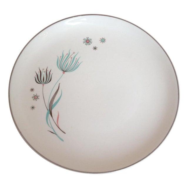 Crooksville Mid Century Floral Atomic Plates - 2 - Image 1 of 7