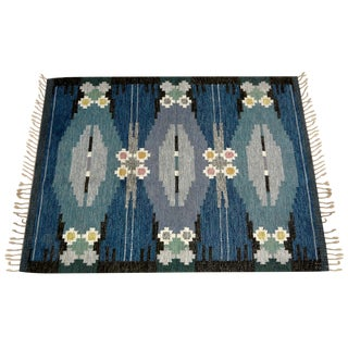 Swedish Mid-Century Flat Weave Rug
