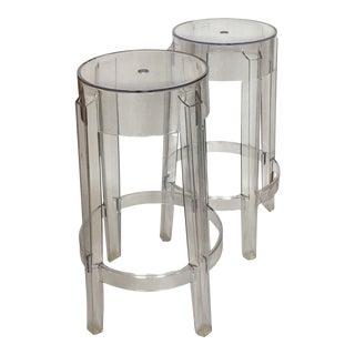Kartell Charles Ghost Stools - A Pair