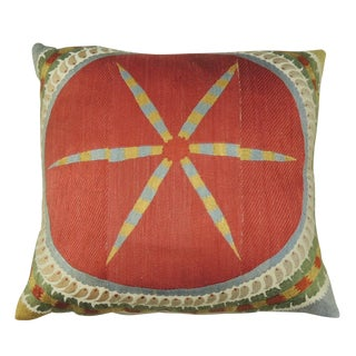 Vintage Red Suzani Floor Pillow